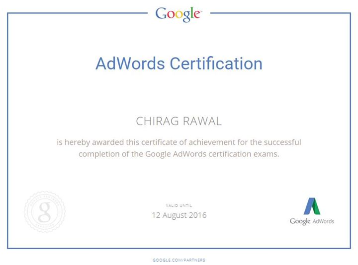 Chirag - Google Adwords