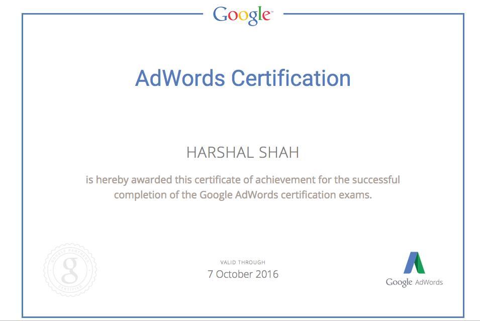 Google Adwords Certification   Xhtmljunkies